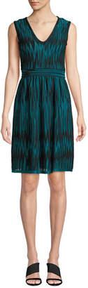 M Missoni Two-Tone Devore Velvet Sleeveless Dress