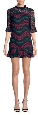 Molly Bracken Lace Bell-Sleeve Mini Dress