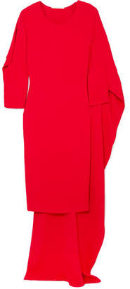 Antonio Berardi Cape-effect Crepe De Chine Dress - Red