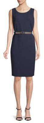 Akris Punto Sleeveless Belted Dress