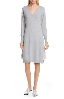 Fabiana Filippi Layered Long Sleeve Sweater Dress