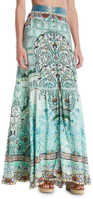 Camilla The Spirit Within Printed Peasant Maxi Skirt