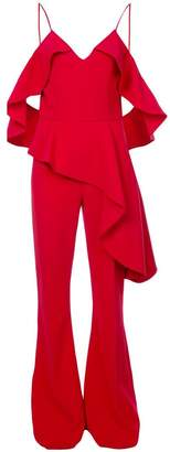 Christian Siriano ruffled off-shoulder jumpsuit