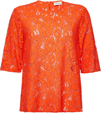 By Malene Birger Nolao Lace Top with Cotton