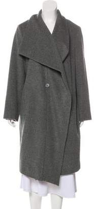 DKNY Knit Button-Up Coat