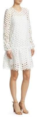 No.21 Star Cut-Out Drop-Waist Dress