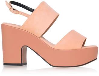 Clergerie Suede Platform Sandals