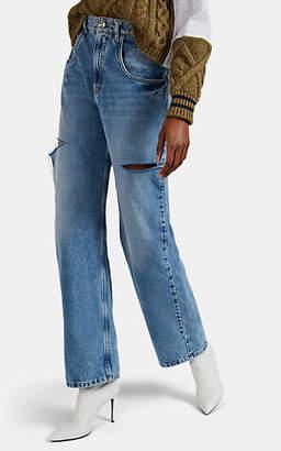 Maison Margiela Women's Cutout Straight Jeans - Blue