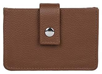 Leather Architect 100% Real Leather Men's Tabbed Card Holder with RFID Protection-