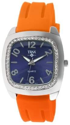 Trax Women's TR1740-NO Malibu Fun Rubber Blue Dial Crystal Watch