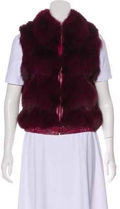 St. John Sleeveless Fur Vest