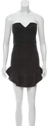 Isabel Marant Strapless Merino Wool Dress