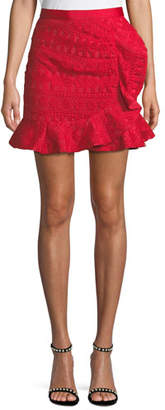 Self-Portrait Lace Frill Mini Skirt