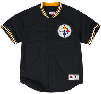 Mitchell & Ness Men's Pittsburgh Steelers Seasoned Pro Mesh Button Front 2.0 Shirt