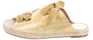 Chloé Leather Lace-Up Espadrilles