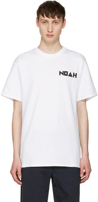 Noah NYC White Jody Logo T-Shirt $50 thestylecure.com