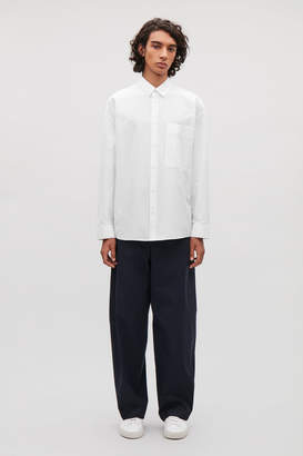 Cos COTTON SHIRT WITH BOX PLEAT
