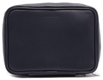 John Lobb Shoe Care Leather Travel Case - Mens - Navy
