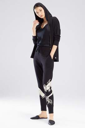 Natori Cocoon Embroidered Joggers