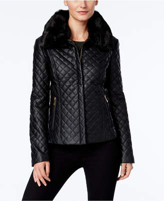 INC International Concepts I.n.c. Quilted Faux-Leather Jacket