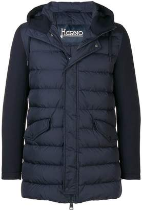 Herno contrast sleeved down jacket