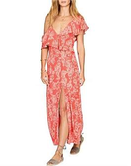 Amuse Society Midight Flower Dress