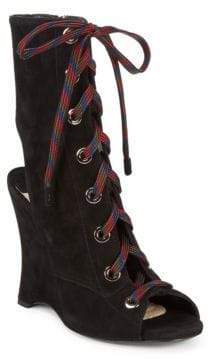 Prada Leather Wedge Booties
