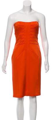 Versace Strapless Sheath Dress