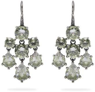 Bottega Veneta Chandelier oxidised-silver earrings