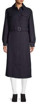 Maje Belted Wool Coat