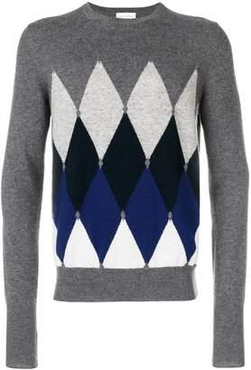 Ballantyne contrast geometric sweater