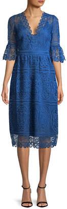 Temperley London Titania Lace Sleeved Dress