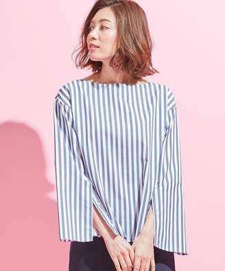 ICB (アイシービー) - ICB 【シワになりにくい】Stripe ボートネックシャツ(C)FDB