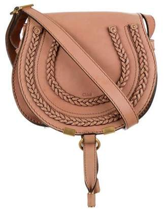 Chloé Chloé Leather Marcie Crossbody Bag Brown Chloé Leather Marcie Crossbody Bag