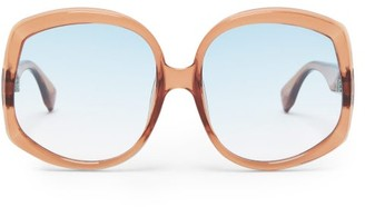 Le Specs Illumination Square Acetate Sunglasses - Womens - Tan