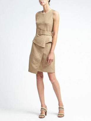 Linen-Blend Peplum Utility Dress $138 thestylecure.com