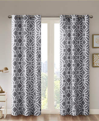 "Intelligent Design Maci Fretwork 42"" x 84"" Room-Darkening Grommet Window Panel"