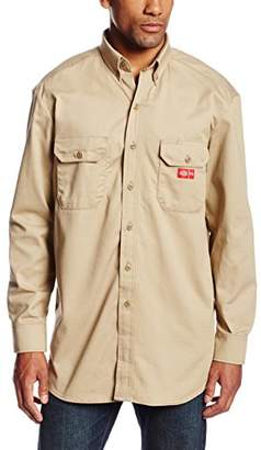 Dickies Men's Flame Resistant Sleeve Twill Button-Down Shirt