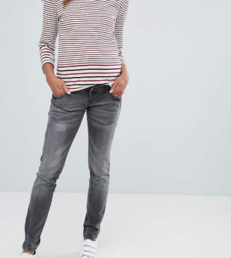 Mama Licious Mama.Licious Mamalicious worn skinny jeans with step hem