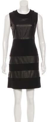 Diane von Furstenberg Christina Leather-Paneled Dress