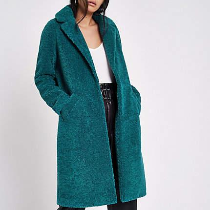 Womens Green green borg coat