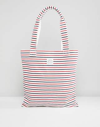 Jack Wills Navy Stripe Book Bag