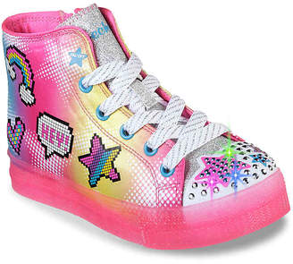 Skechers Twinkle Toes Shuffle Brights Light-Up High-Top Sneaker - Kids' - Girl's