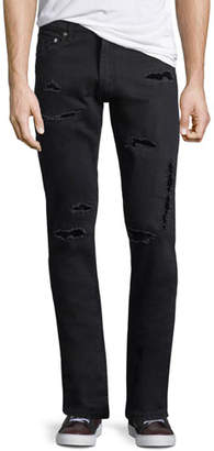 Alexander McQueen Distressed Jeans w/Velvet Patches