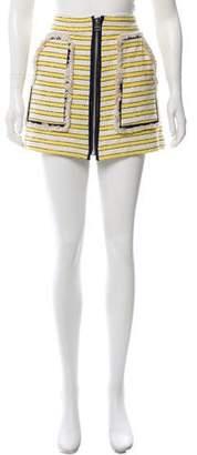Veronica Beard Striped Mini Skirt