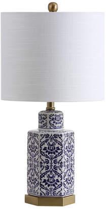 """Jonathan Y Diana 23.5"""" Ginger Jar Ceramic,Metal LED Table Lamp"""