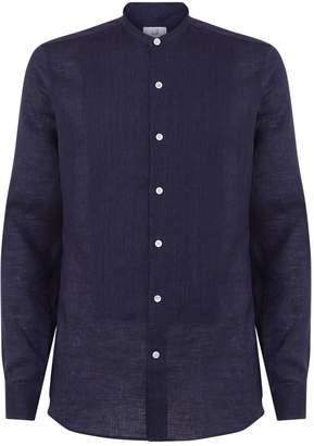 Dunhill Linen Mandarin Shirt