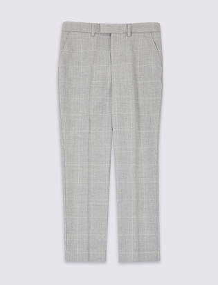 Marks and Spencer Checked Suit Trousers (3-16 Years)