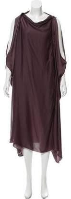 Lanvin Cold-Shoulder Midi Dress