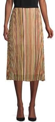 T Tahari Pleated A-Line Midi Skirt